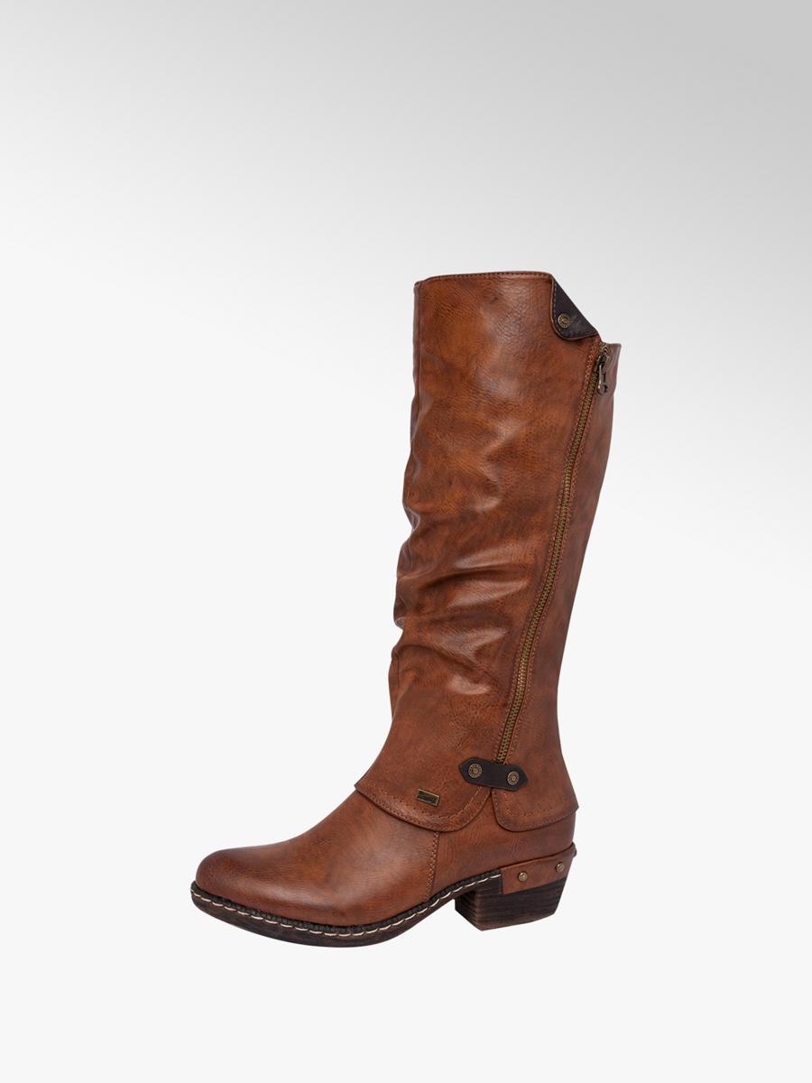 Rieker Ladies Long Leg Boots Tan |Deichmann