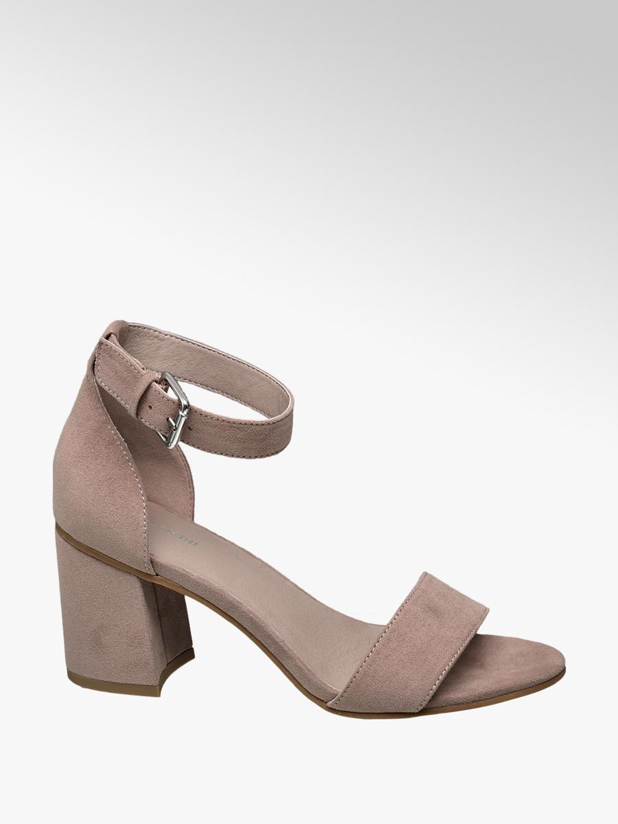 96c1794b98f12 Różowe sandały na obcasie Graceland - 1240828 - deichmann.com