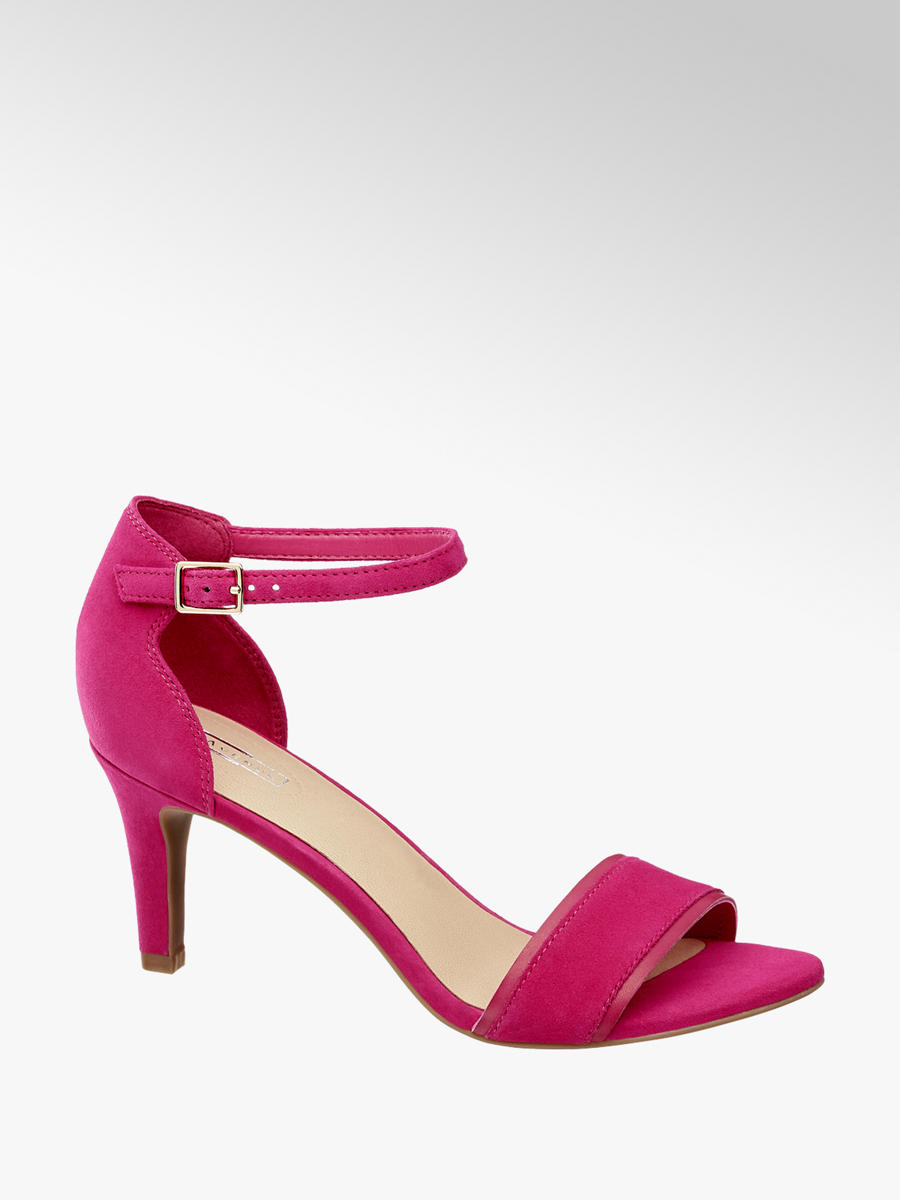 e444ffaf7a0a4 Różowe sandały na obcasie 5th Avenue - 1175824 - deichmann.com