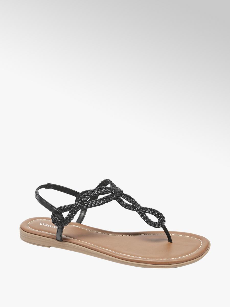 Graceland Damen Sandale schwarz Neu
