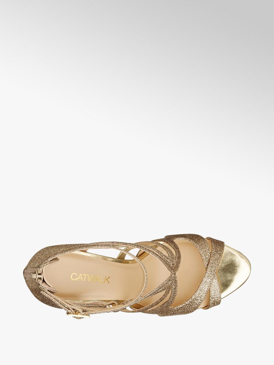 eed6491074aa59 Sandalette von Catwalk in gold - DEICHMANN