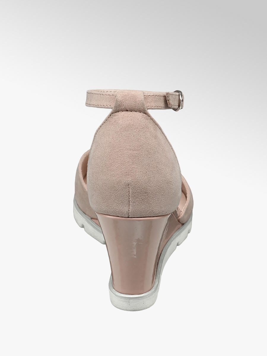d59c74b5ea879b Sandalo rosa con zeppa e cinturino da donna | Deichmann