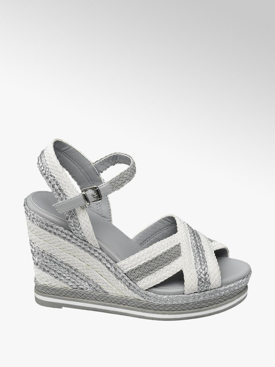6bc6efde335e Sandále na klinovom podpätku značky Catwalk vo farbe sivá - deichmann.com