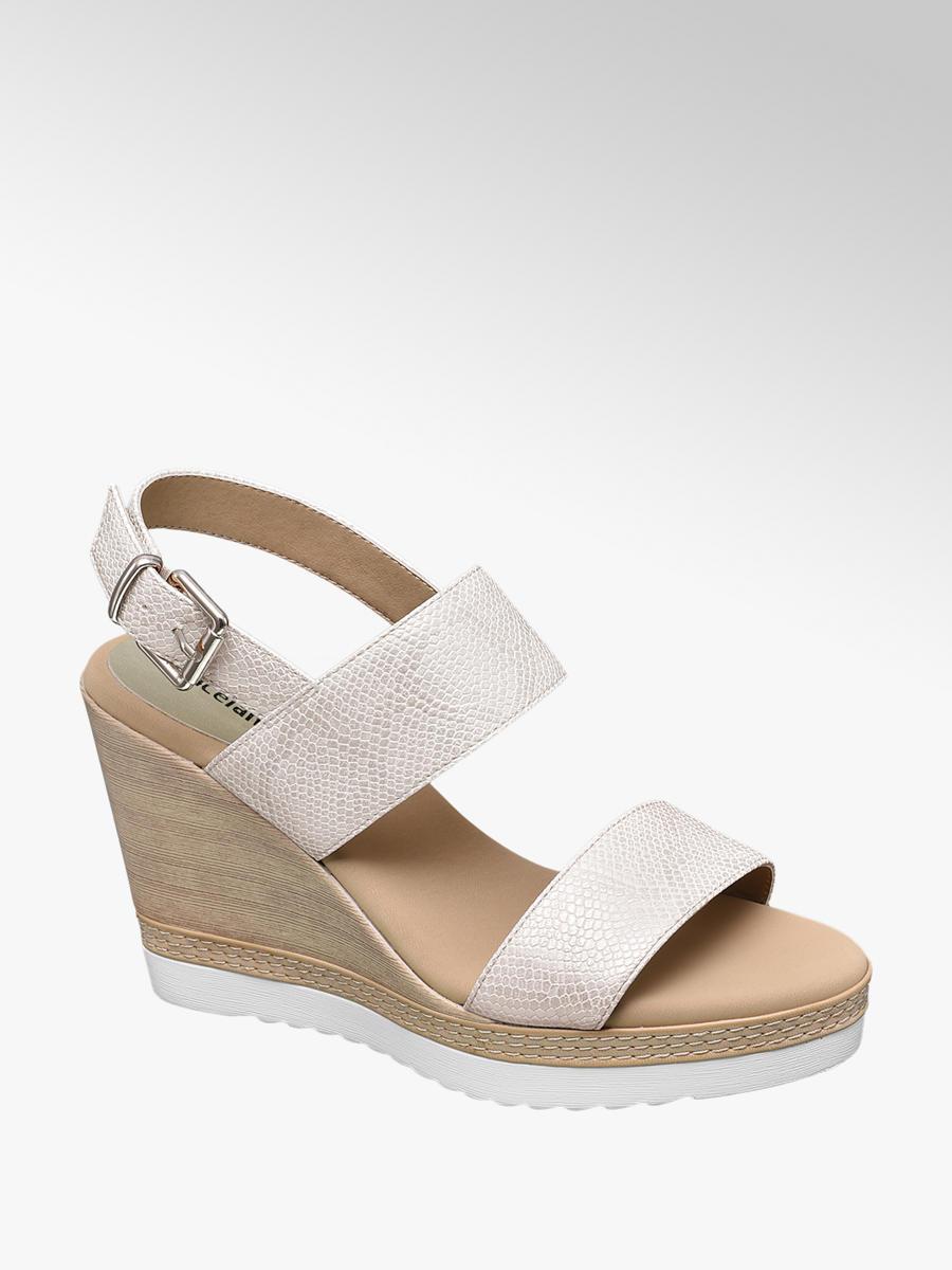 0ea2407dba Sandále na klinovom podpätku značky Graceland vo farbe béžová -  deichmann.com