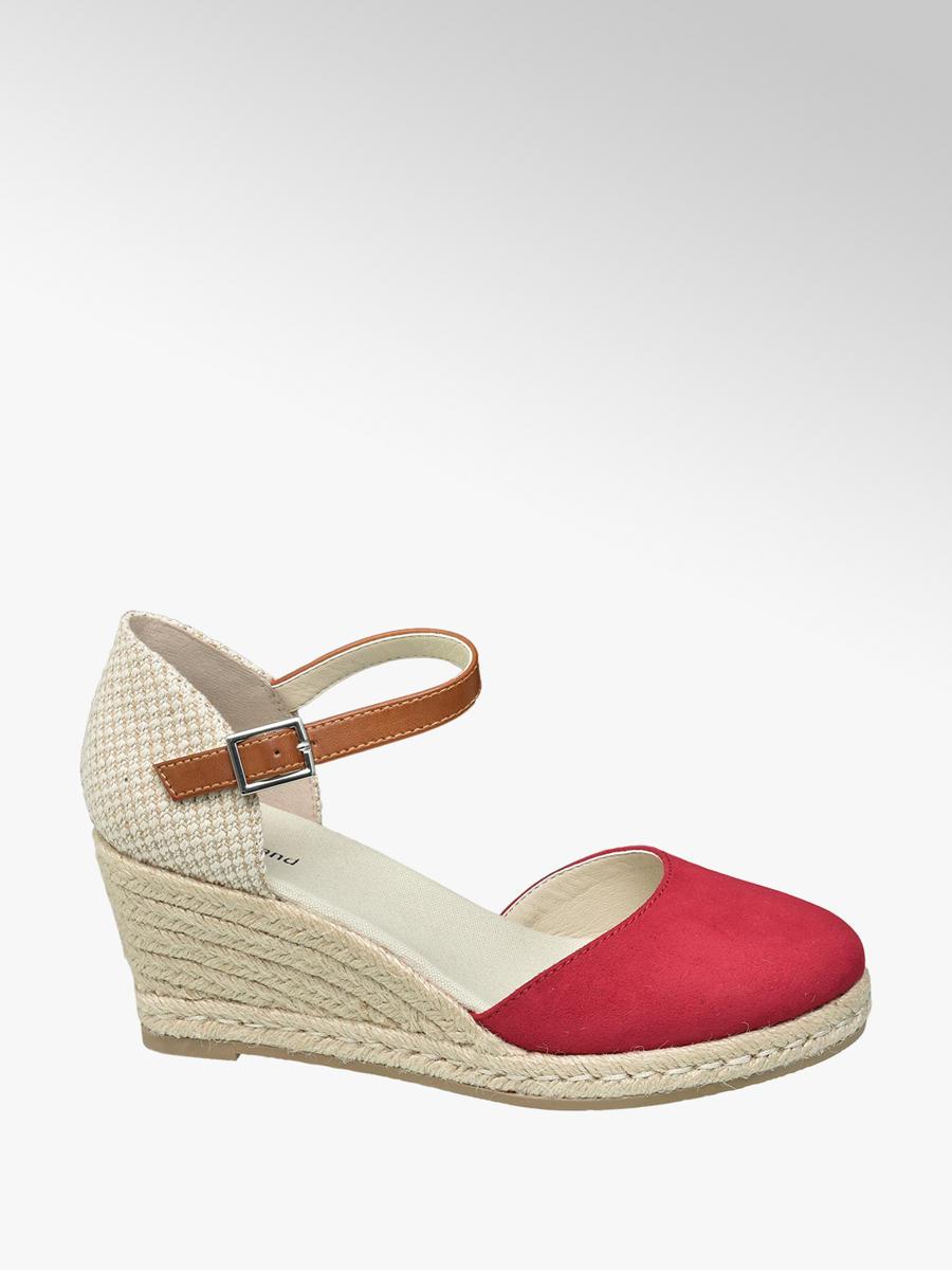 Sandále na klinovom podpätku značky Graceland vo farbe červená -  deichmann.com 36da5b8f97