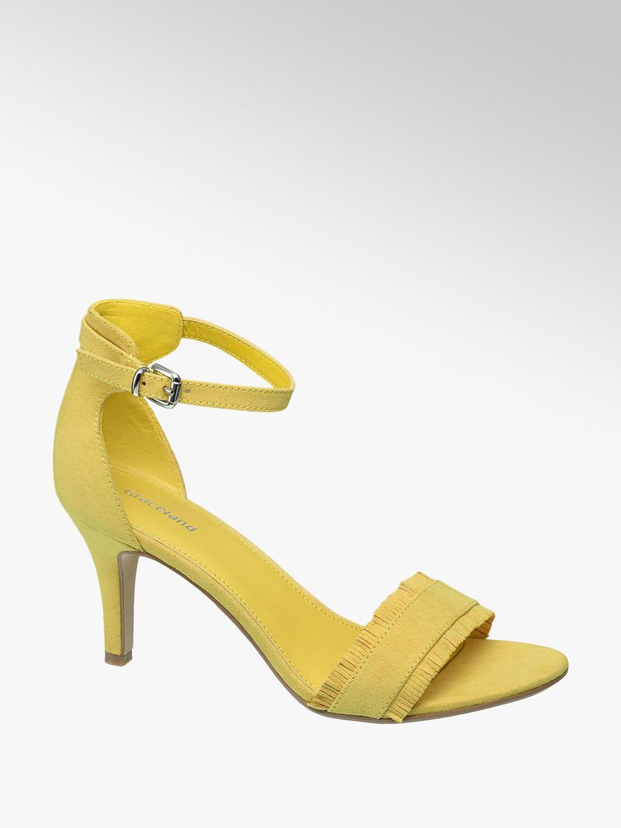 85b74dd4a17d Na Sandály V Graceland Značky Barvě Žlutá Podpatku 4xAdAqwHng