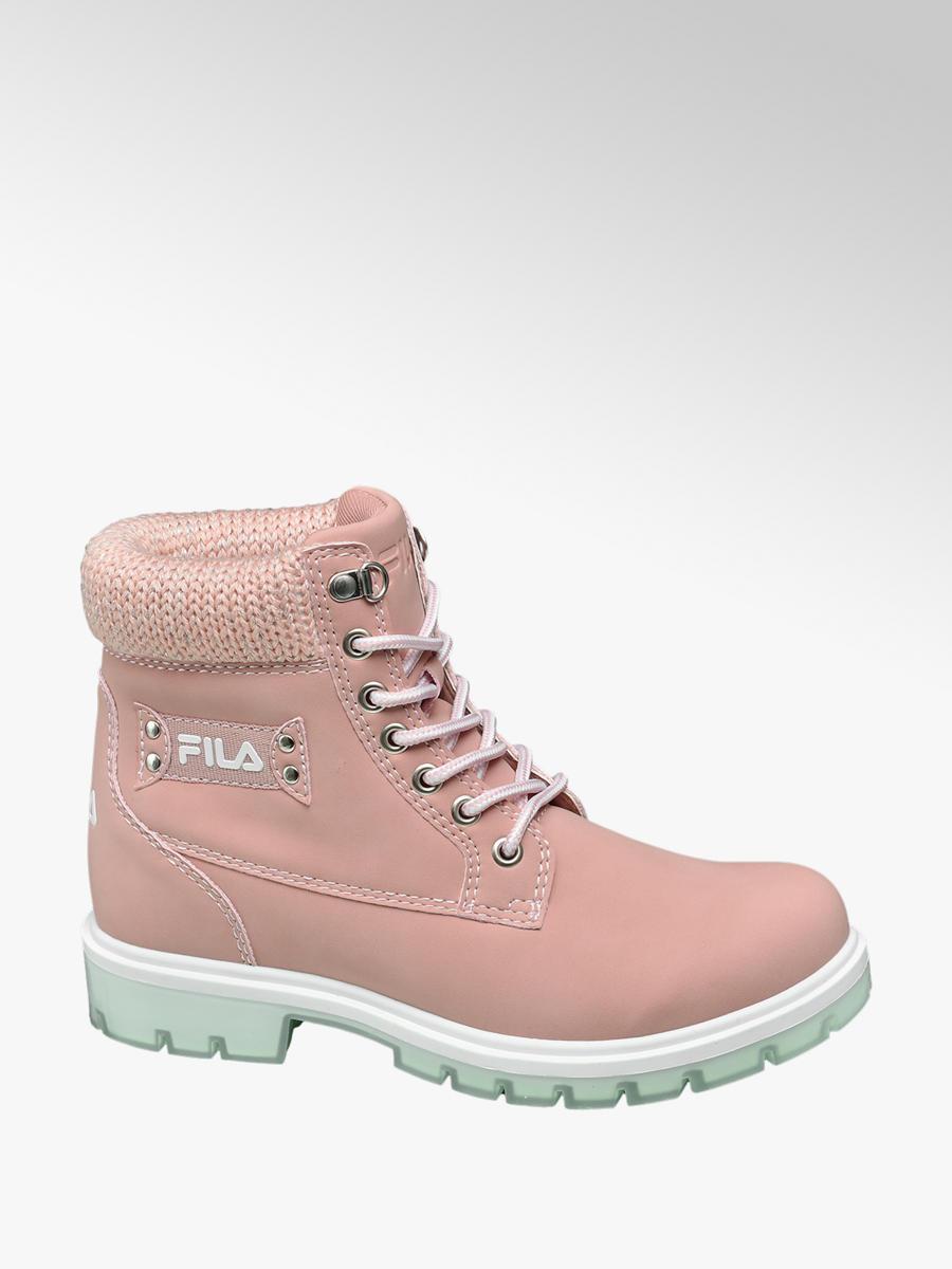Schnürboots von Fila in rosa - DEICHMANN 013fb679aa