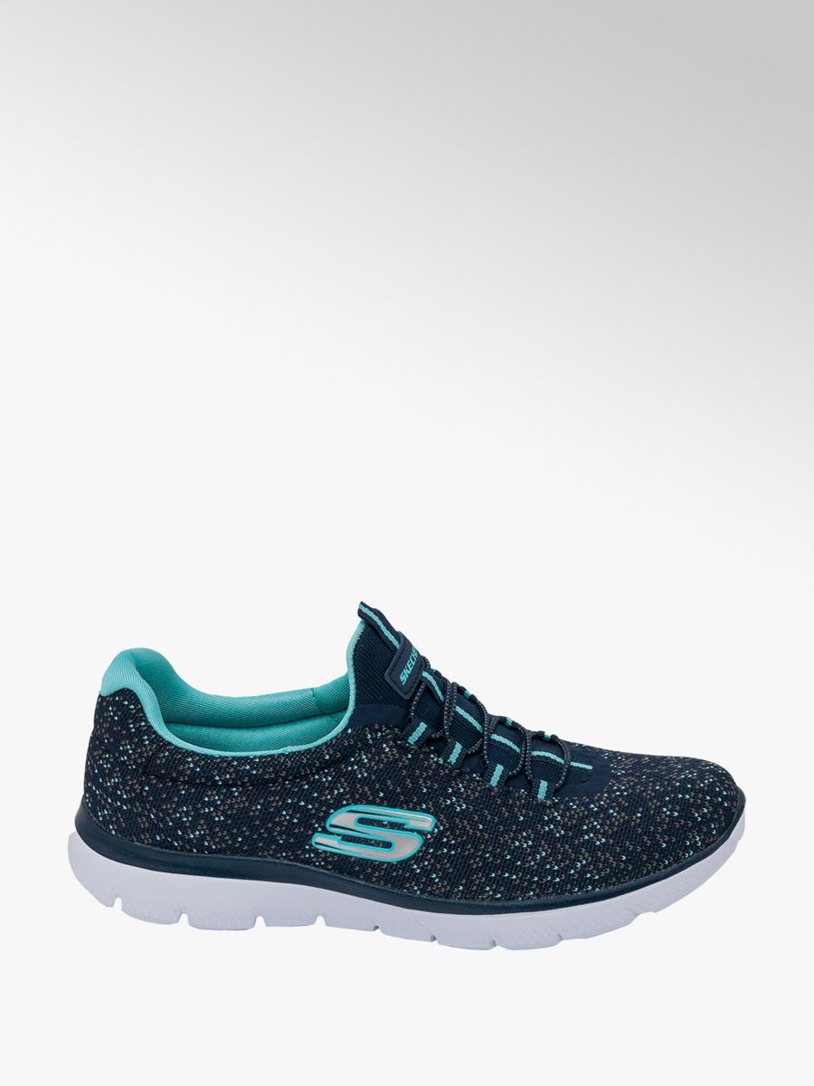 Skechers Ladies Slip-on Trainers Blue