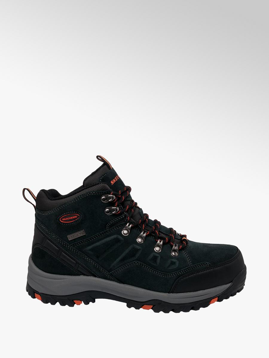 Skechers Men S Waterproof Lace Up Hiker Boots Black Deichmann