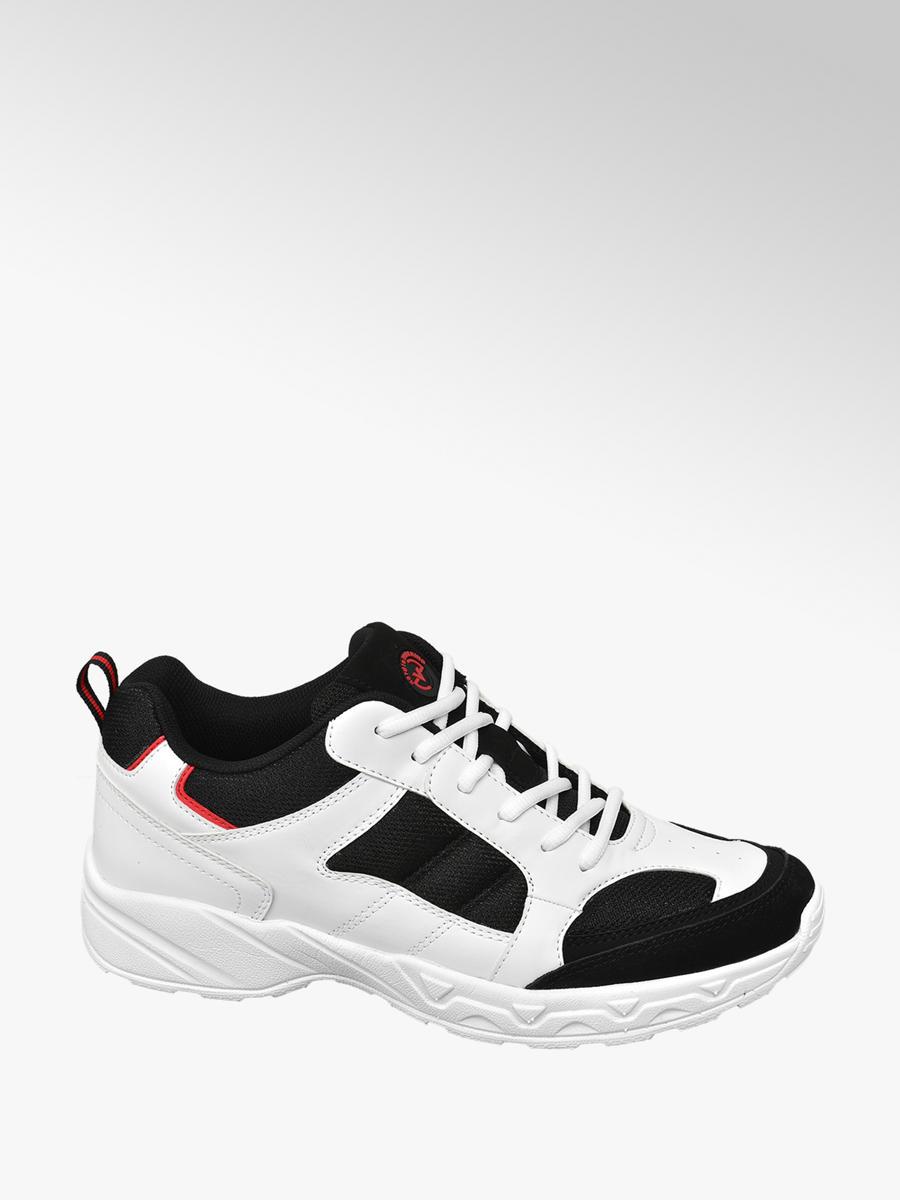 Sneaker bimateriale nero-bianco da uomo  96f4f686f67