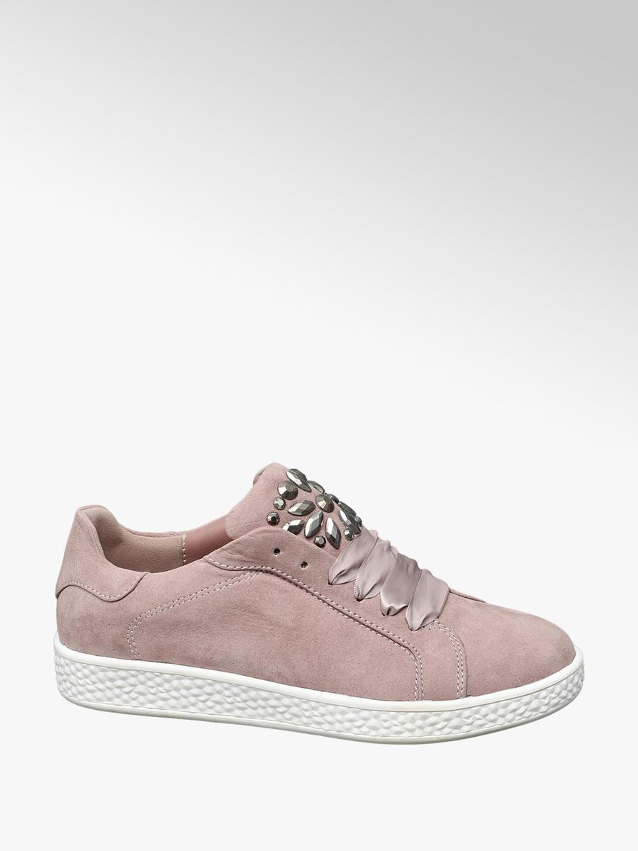 829b8d5010649 Sneaker rosa con applicazioni da donna