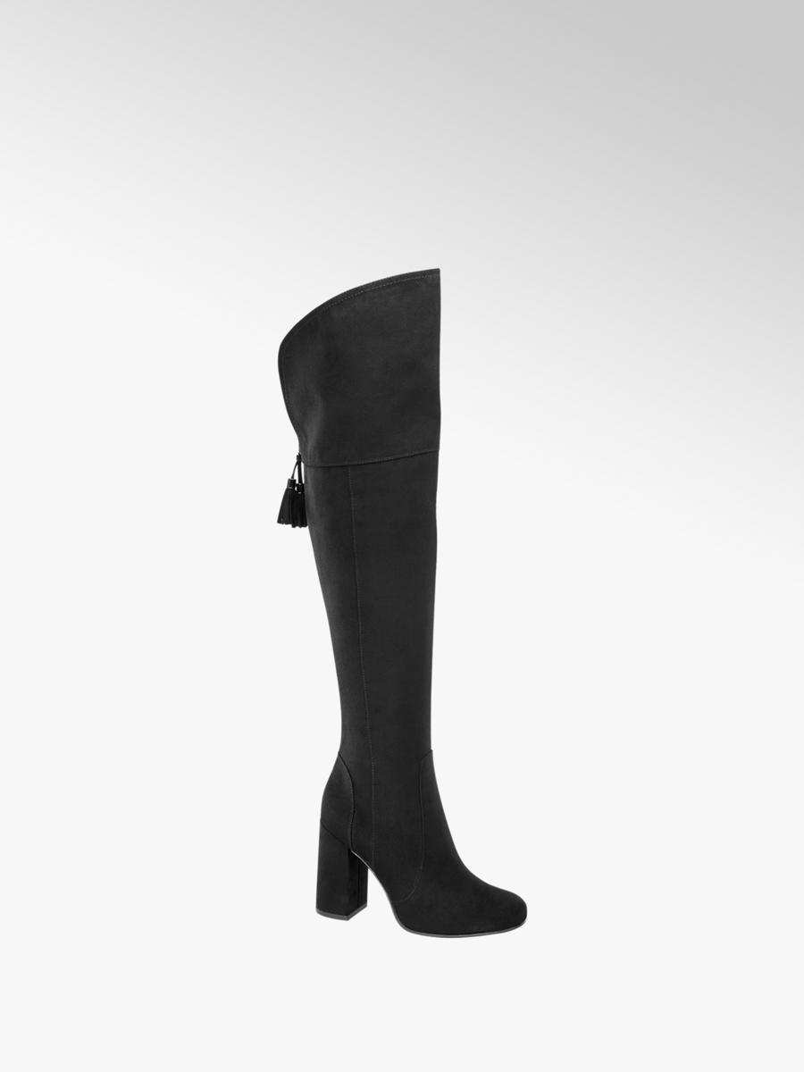 pretty nice 4e329 d2966 Stivale overknee nero con tacco da donna | Deichmann