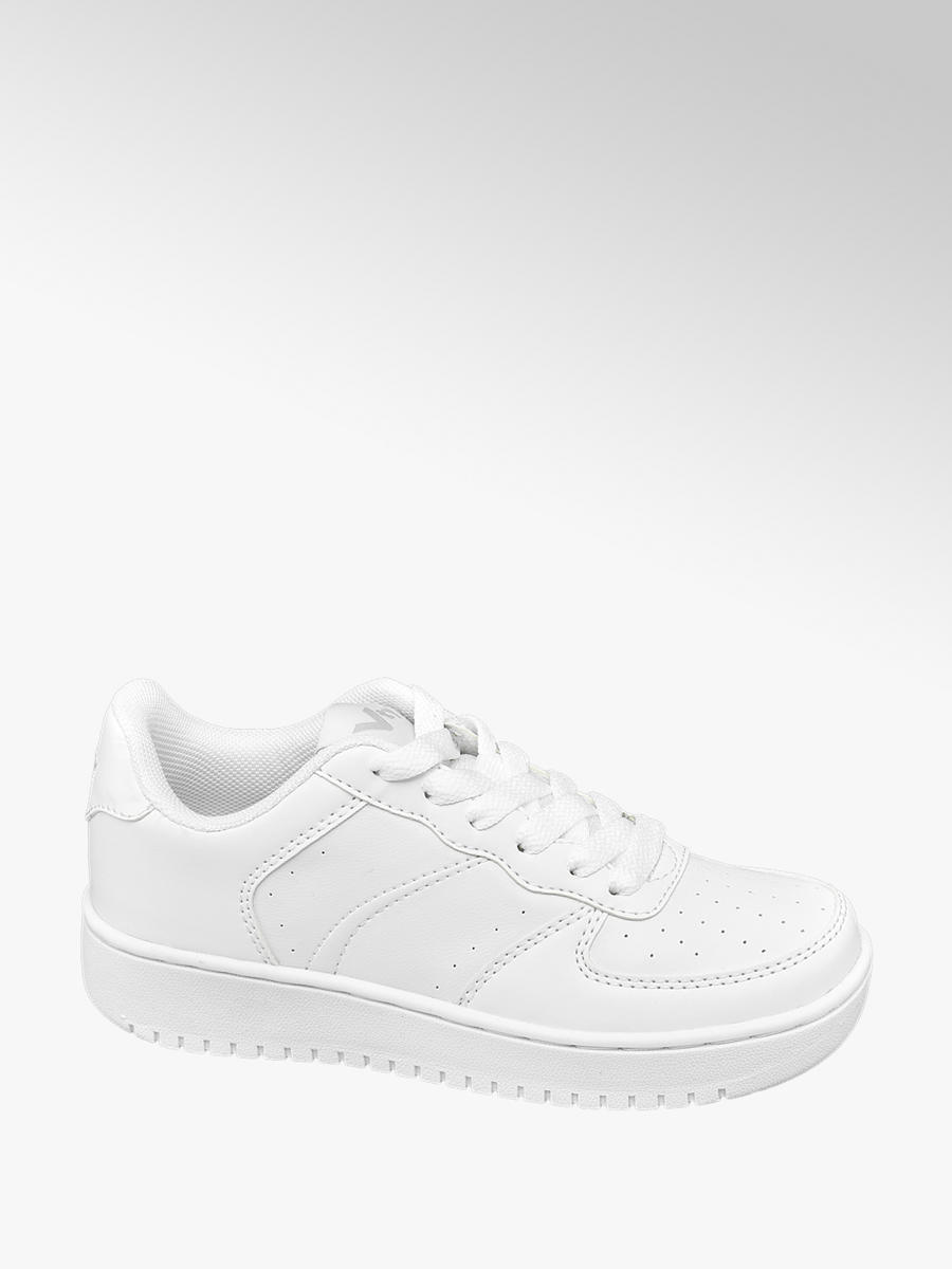 VTY Junior Boys Lace-up Trainers White
