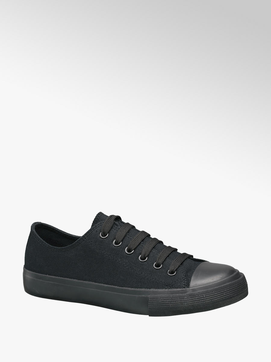 superior quality excellent quality order VTY Ladies Lace-up Canvas Trainers in Black | Deichmann