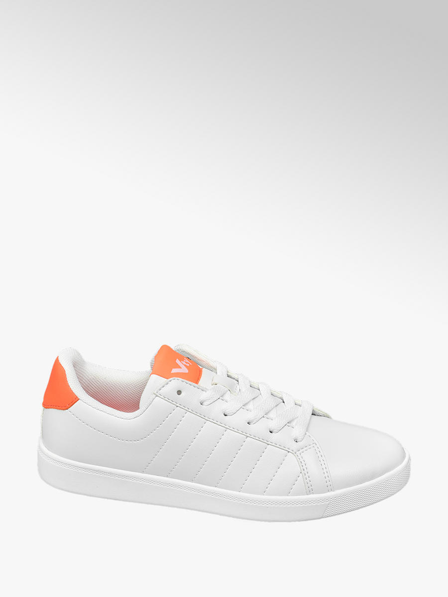 VTY Ladies Lace-up Trainers White