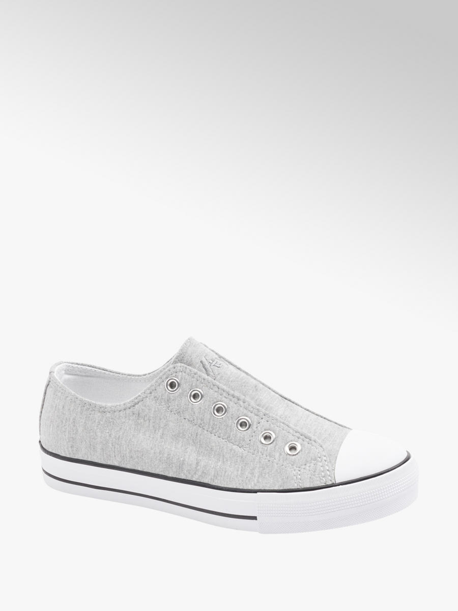 VTY Ladies Slip-on Canvas Shoes Grey