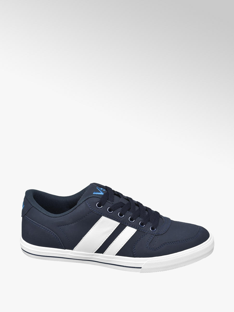 VTY Men's Lace-up Trainers Navy \u0026 White