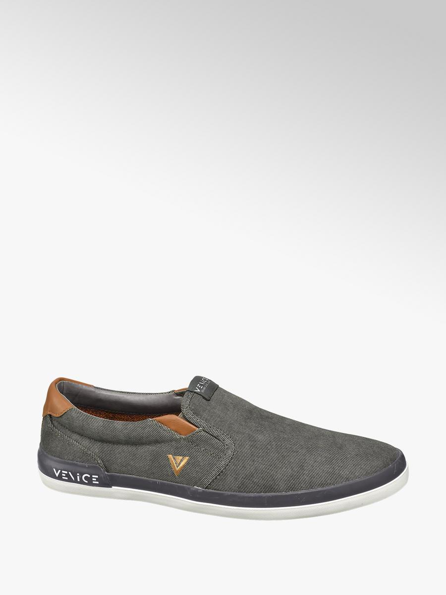 063b63ed000f Venice Men's Casual Canvas Slip-on Shoes Grey | Deichmann