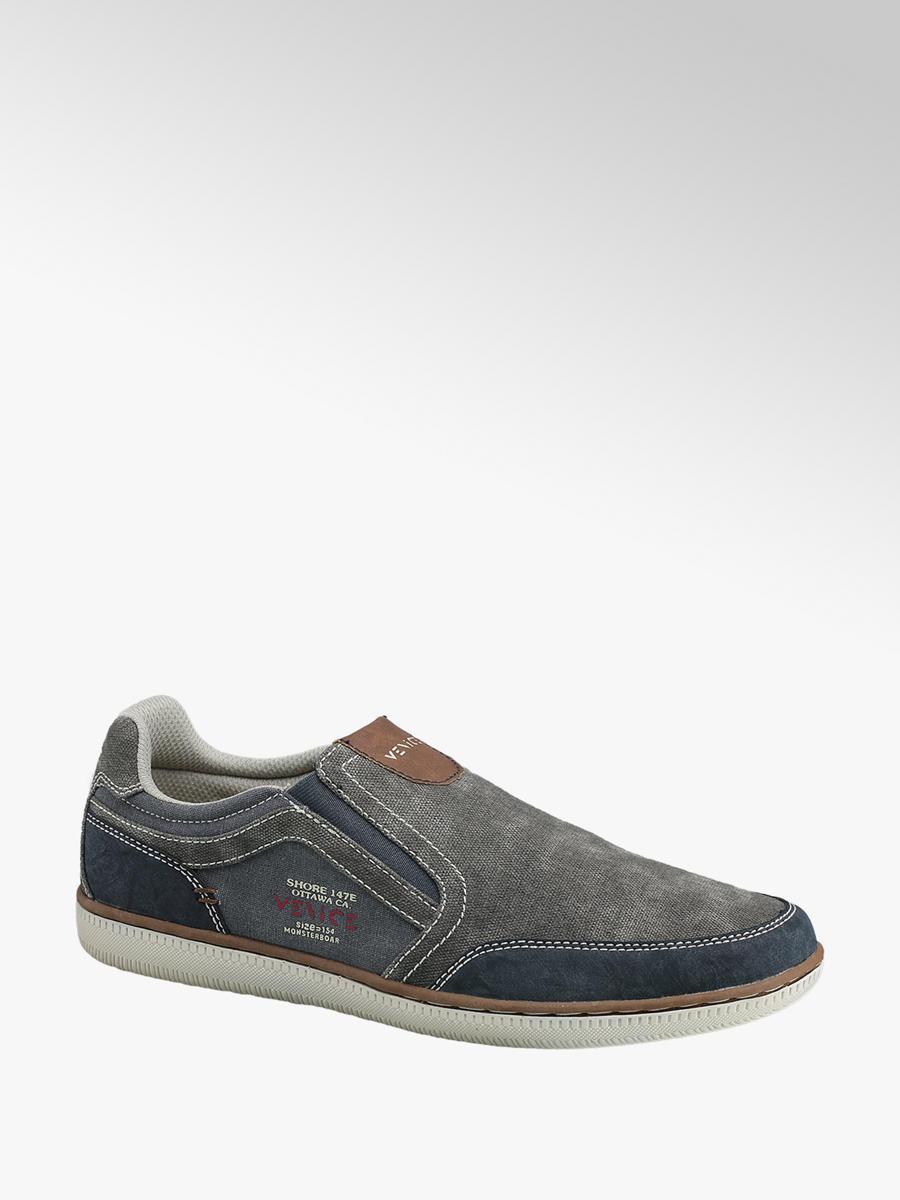 Venice Men's Casual Slip On Shoes Grey