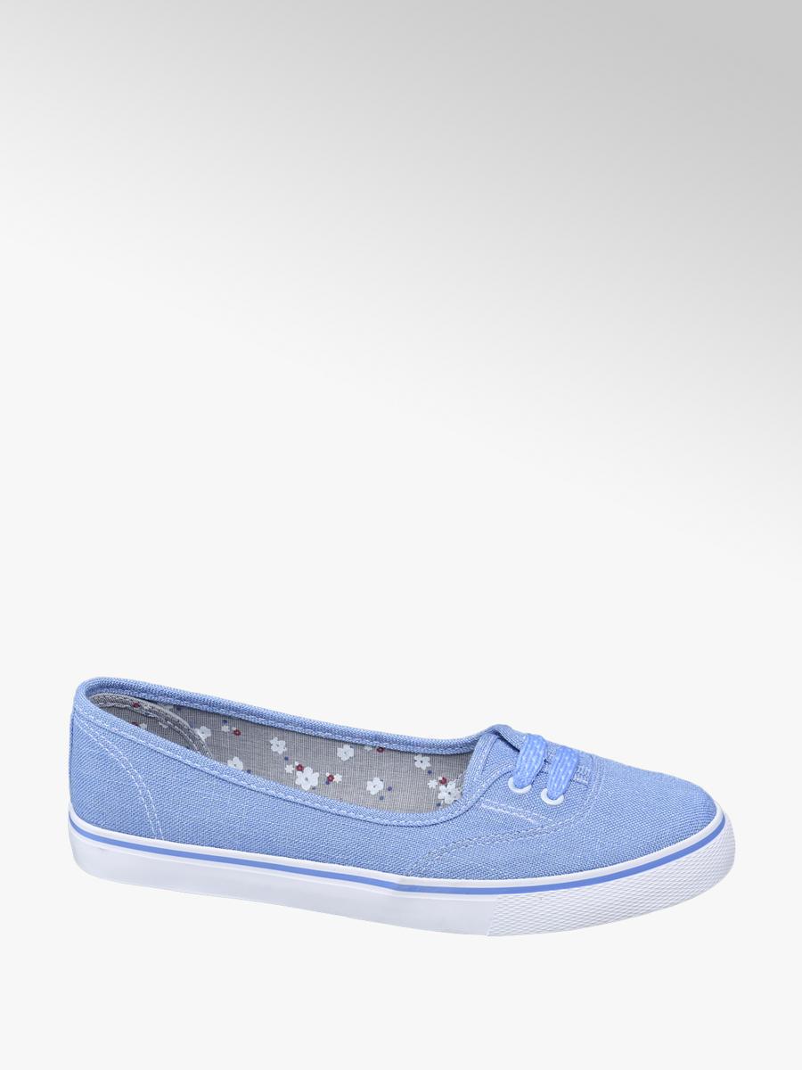 Vty Ladies' Canvas Slip-on Shoes Blue
