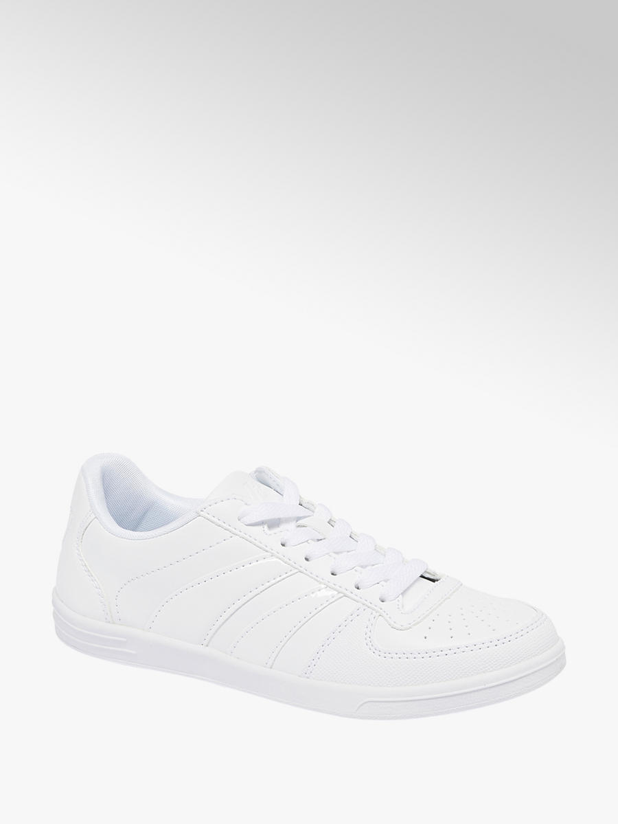 Vty Ladies' Lace-up Trainers White