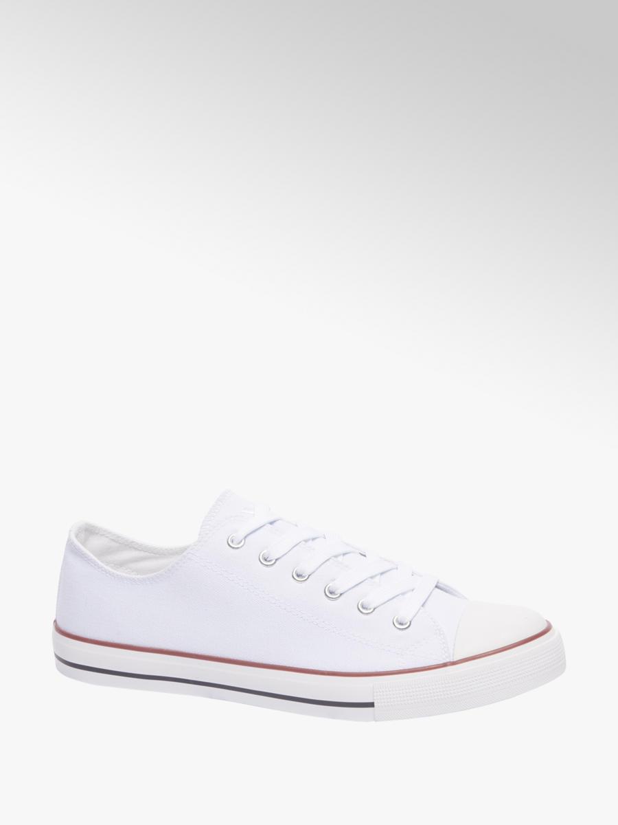 d90d3049112 Vty Witte canvas sneaker - Gratis Bezorgd & Retour | vanHaren.nl