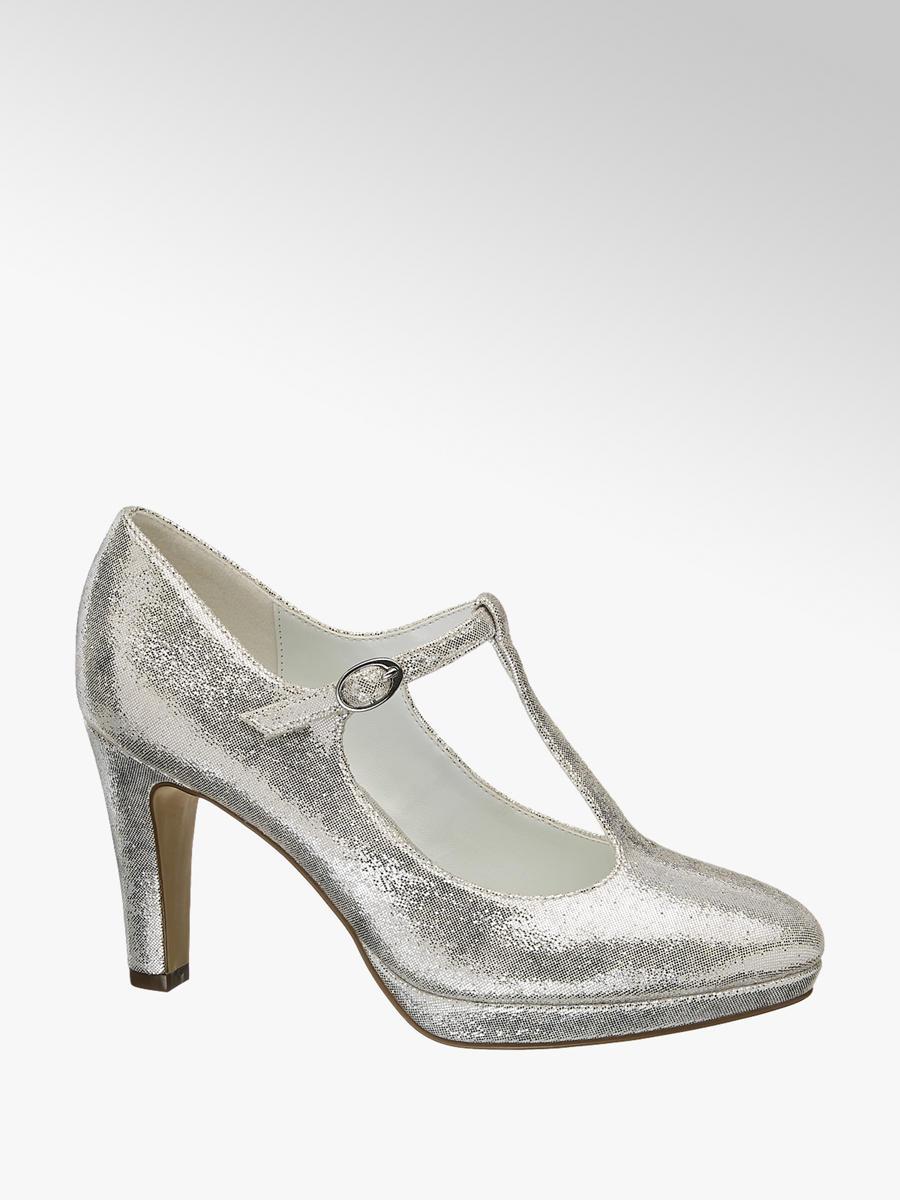 Tacón Zapato De Plateado Catwalk Deichmann 5Xqnqpzw f381ad8dd34