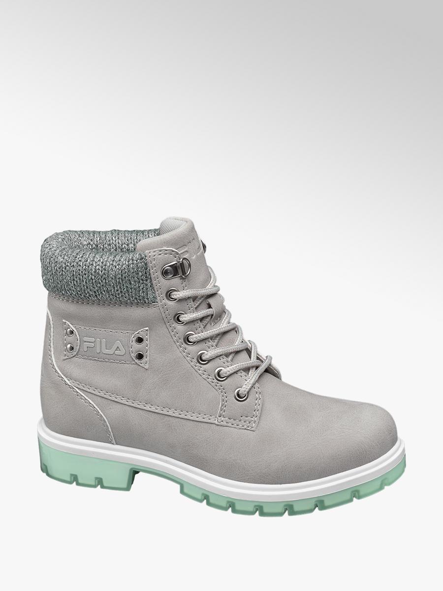 Zimná obuv na šnurovanie značky Fila vo farbe sivá - deichmann.com 8c40e8c3676