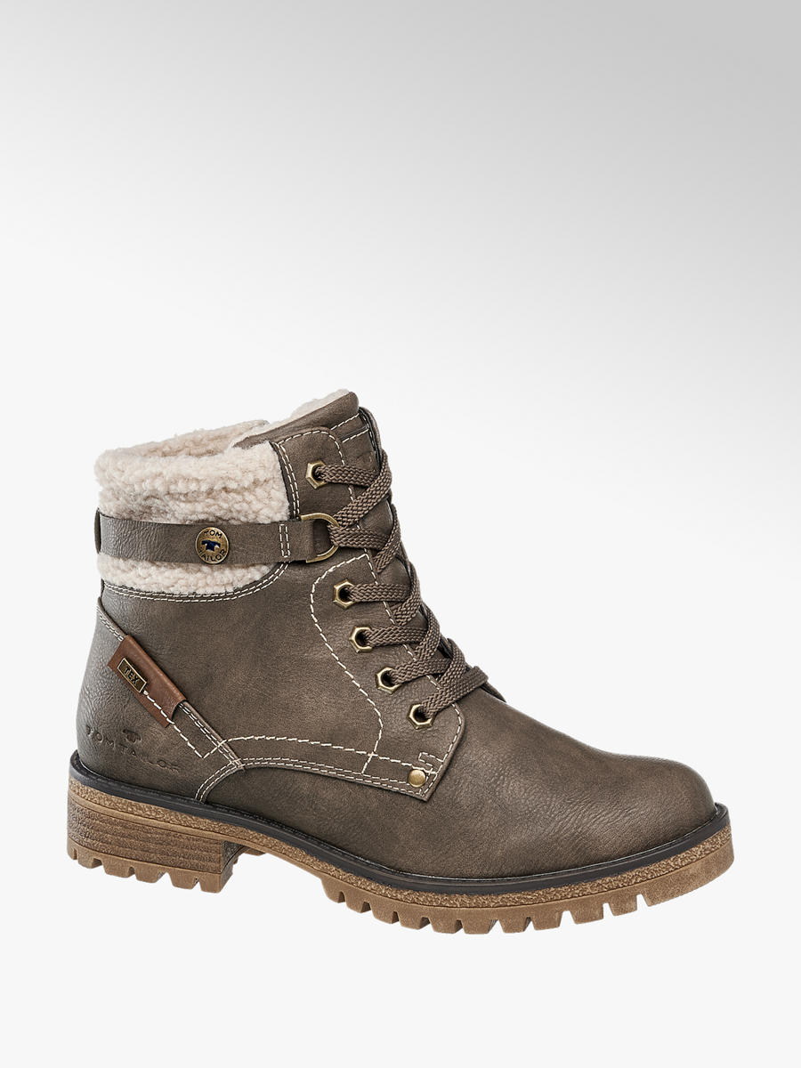 667dc0e8596f Zimná obuv so šnurovaním značky Tom Tailor vo farbe béžová - deichmann.com