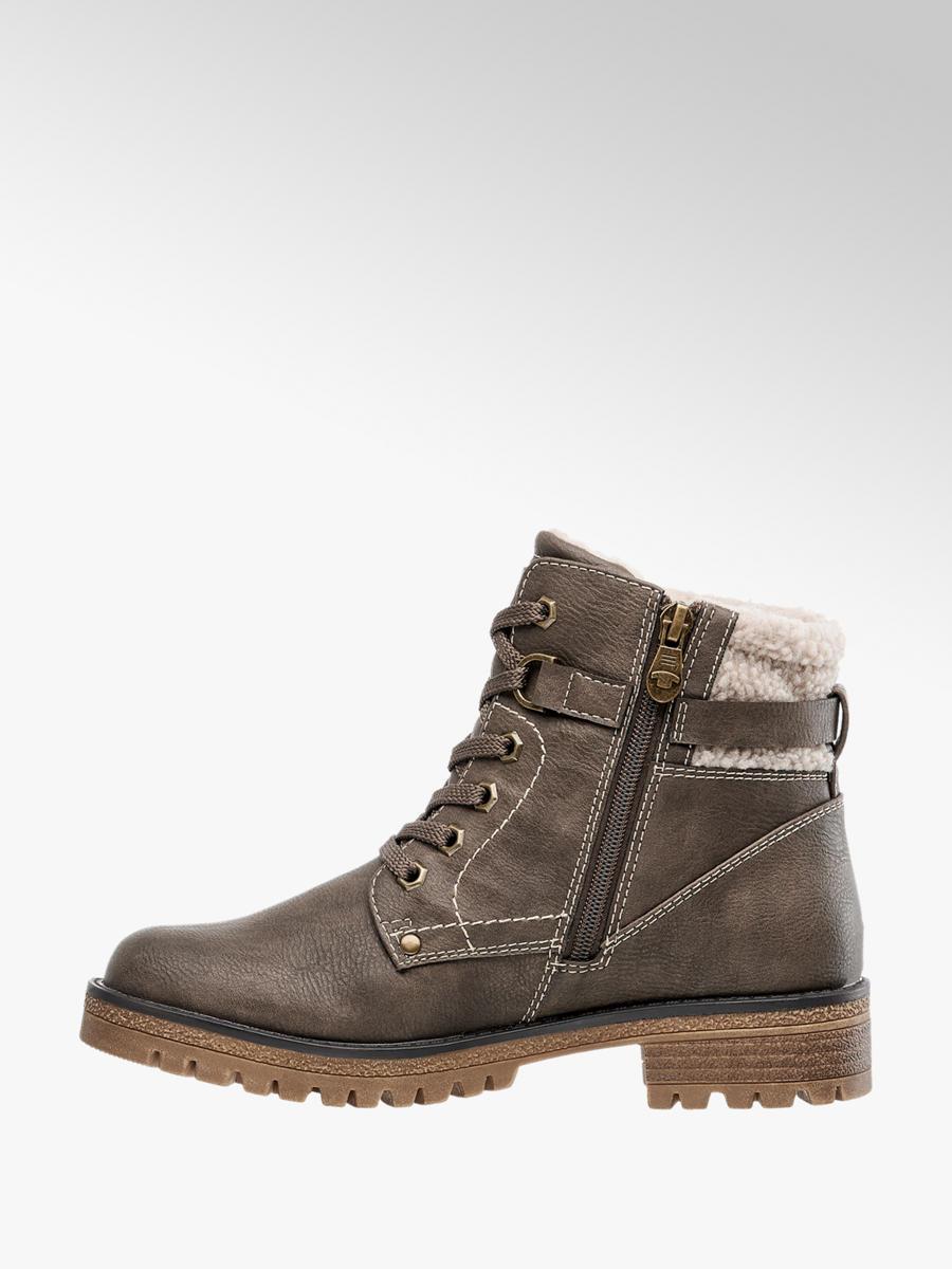 a8306d2a4501 Zimná obuv so šnurovaním značky Tom Tailor vo farbe béžová ...