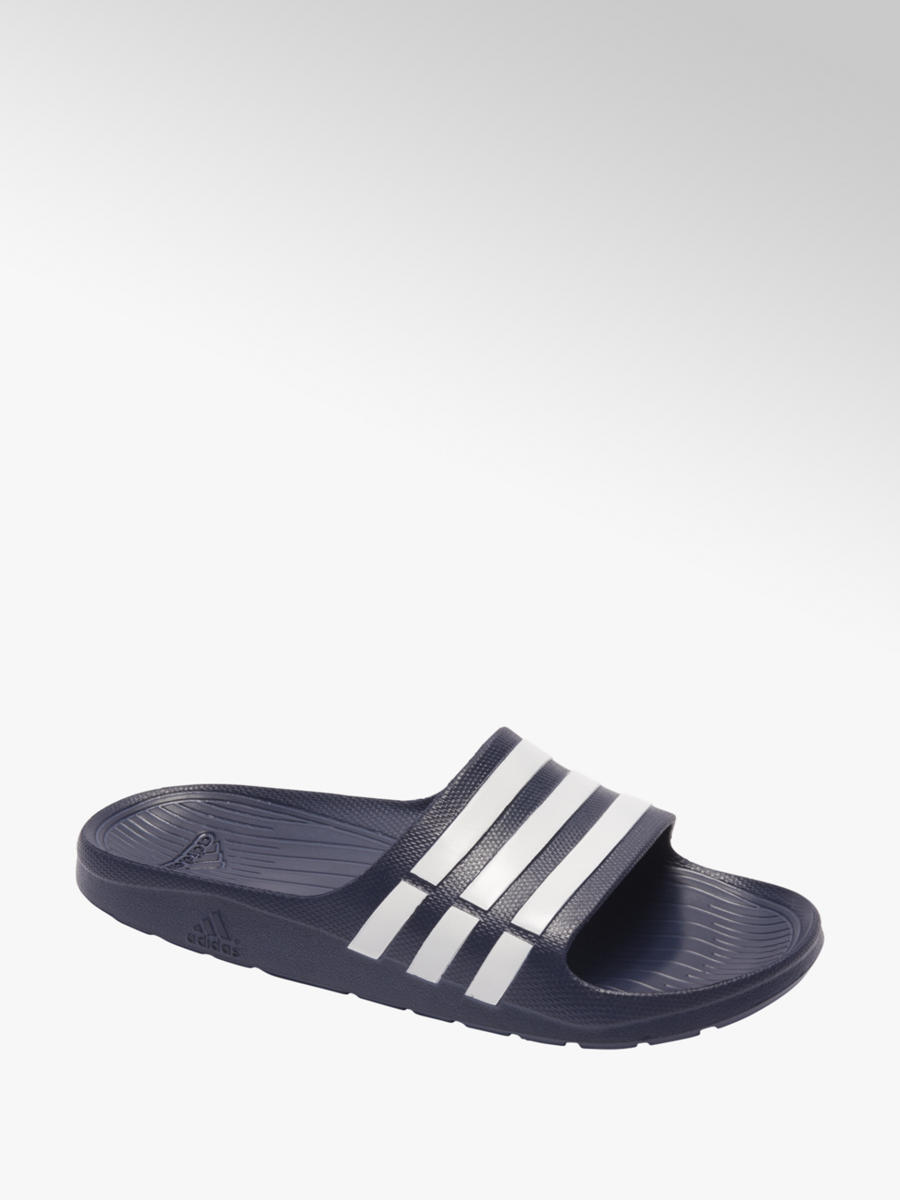 adidas slippers cloudfoam blauw