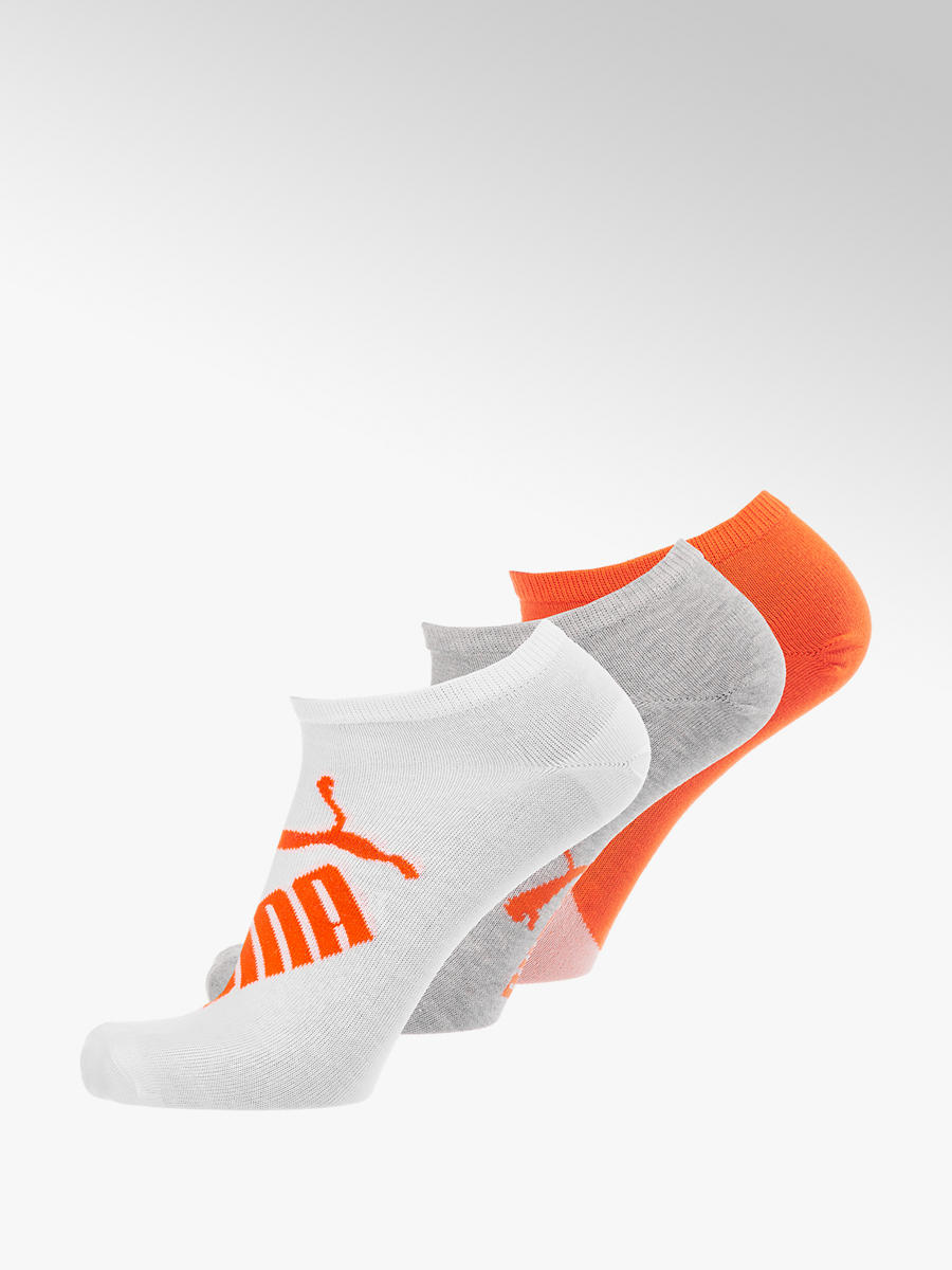 3er Pack Socken von Puma in orange DEICHMANN