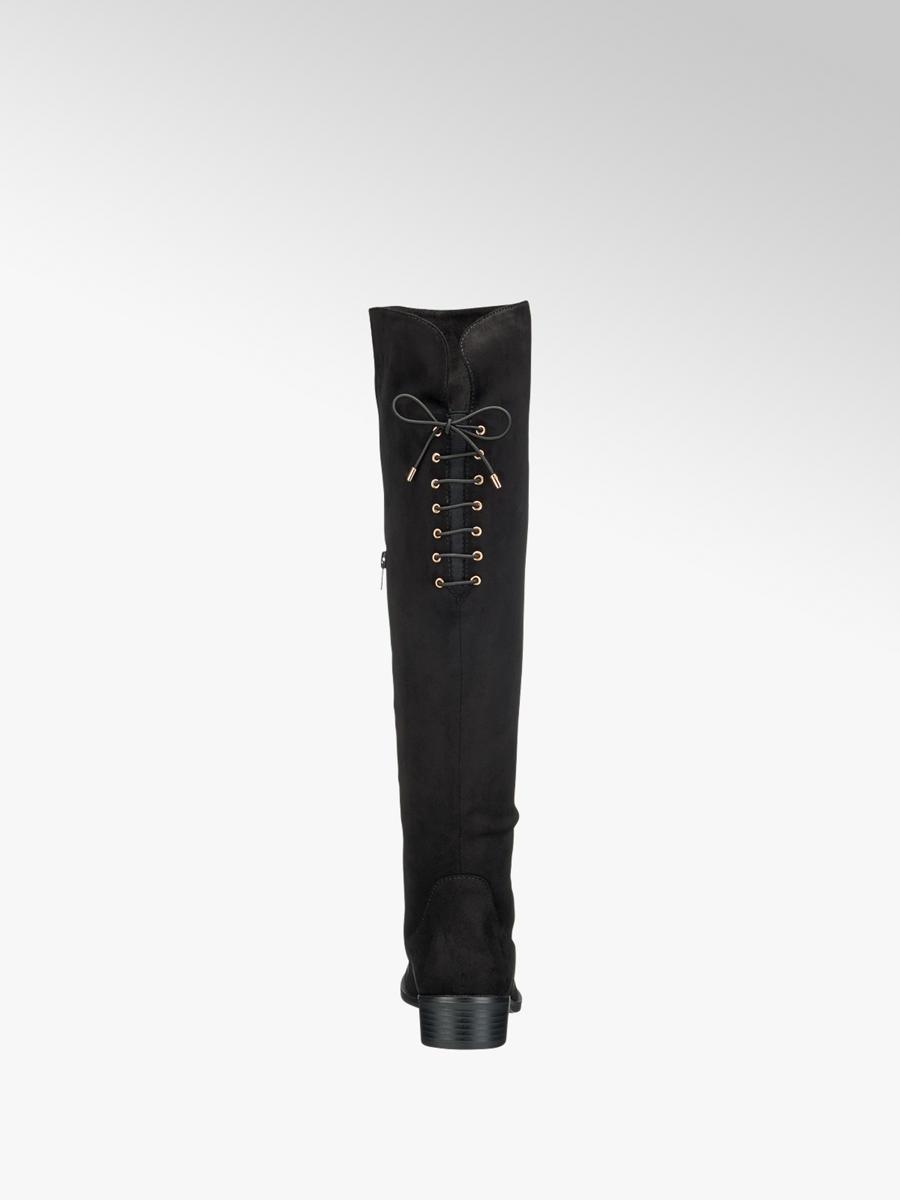Čižmy nad kolená značky Graceland vo farbe čierna - deichmann.com 2a2d721d75d