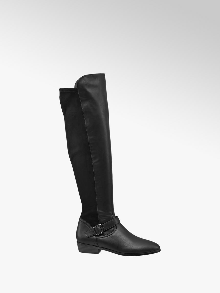 4a0b3bd0e7 Čižmy nad kolená značky Graceland vo farbe čierna - deichmann.com