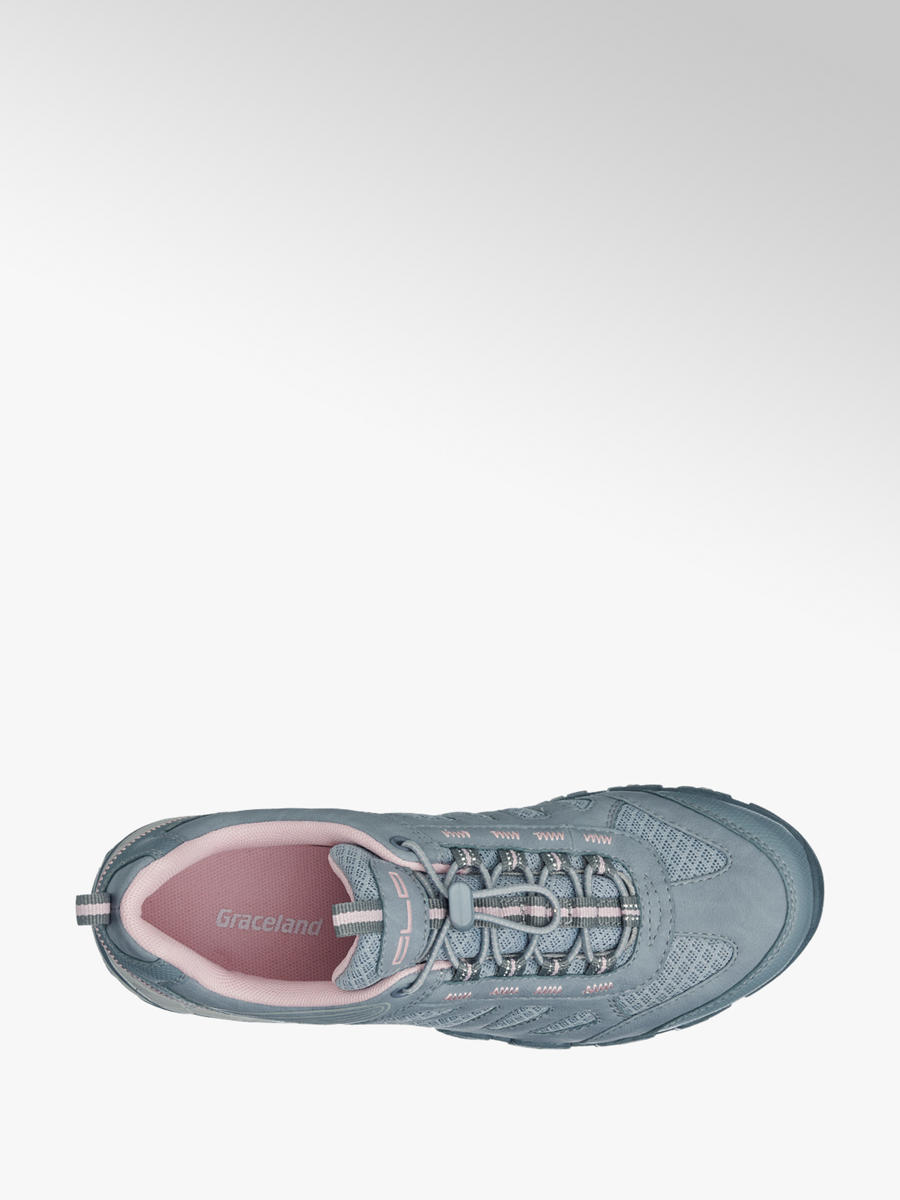 ladies' slip-on casual trainers in grey