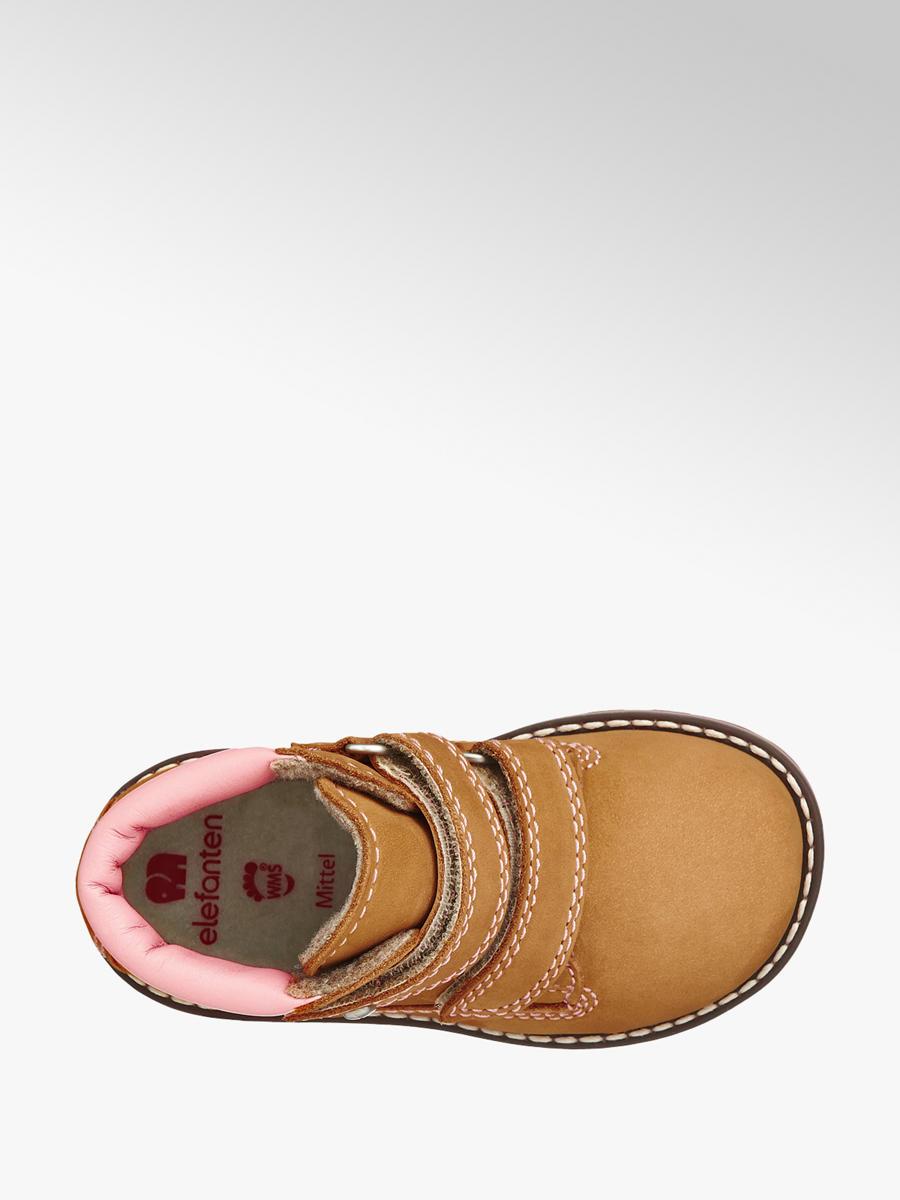 Členková obuv na suchý zips značky Elefanten vo farbe béžová ... f986044063