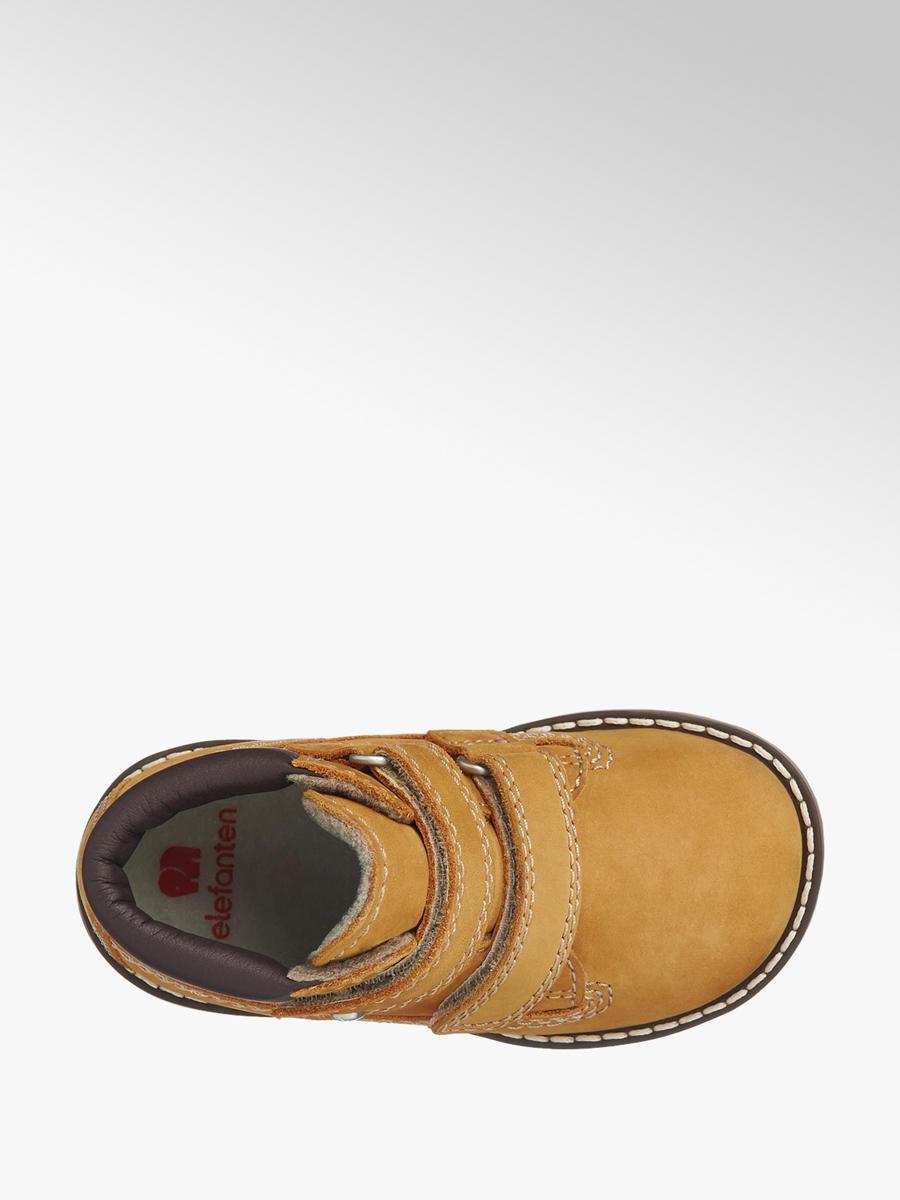 Členková obuv na suchý zips značky Elefanten vo farbe hnedá ... 2fd652bf72