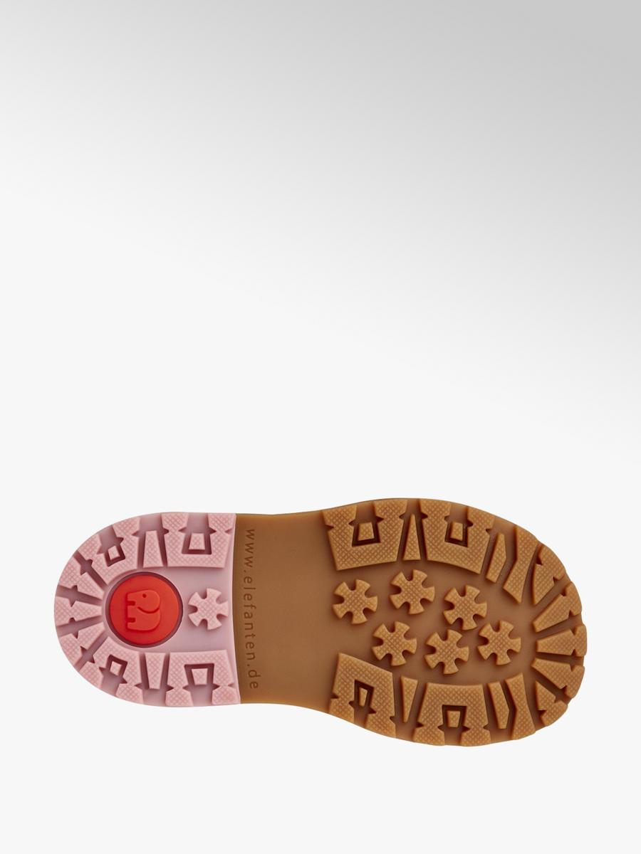 Členková obuv na suchý zips značky Elefanten vo farbe ružová ... 46539a4589