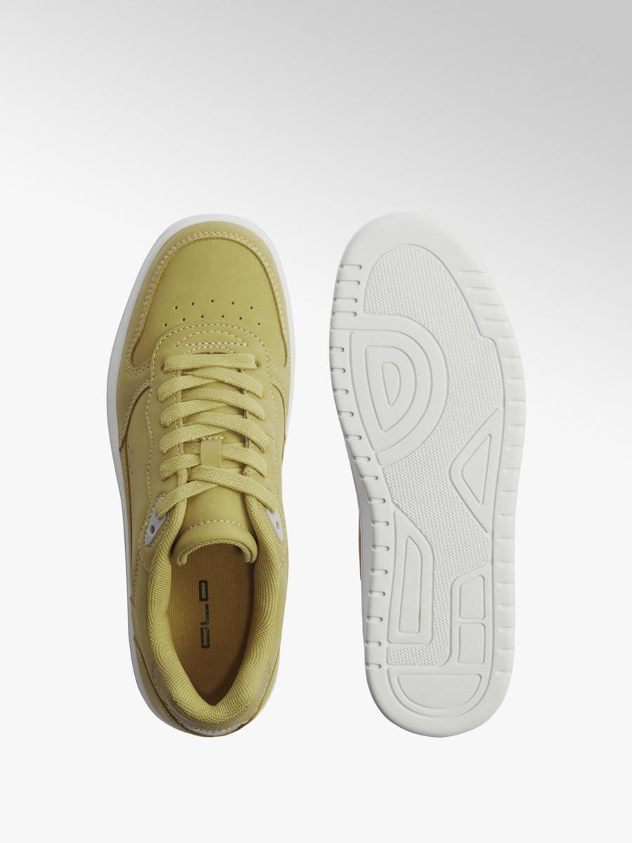 Zolte Sneakersy Damskie Graceland Na Bialej Podeszwie Deichmann Com