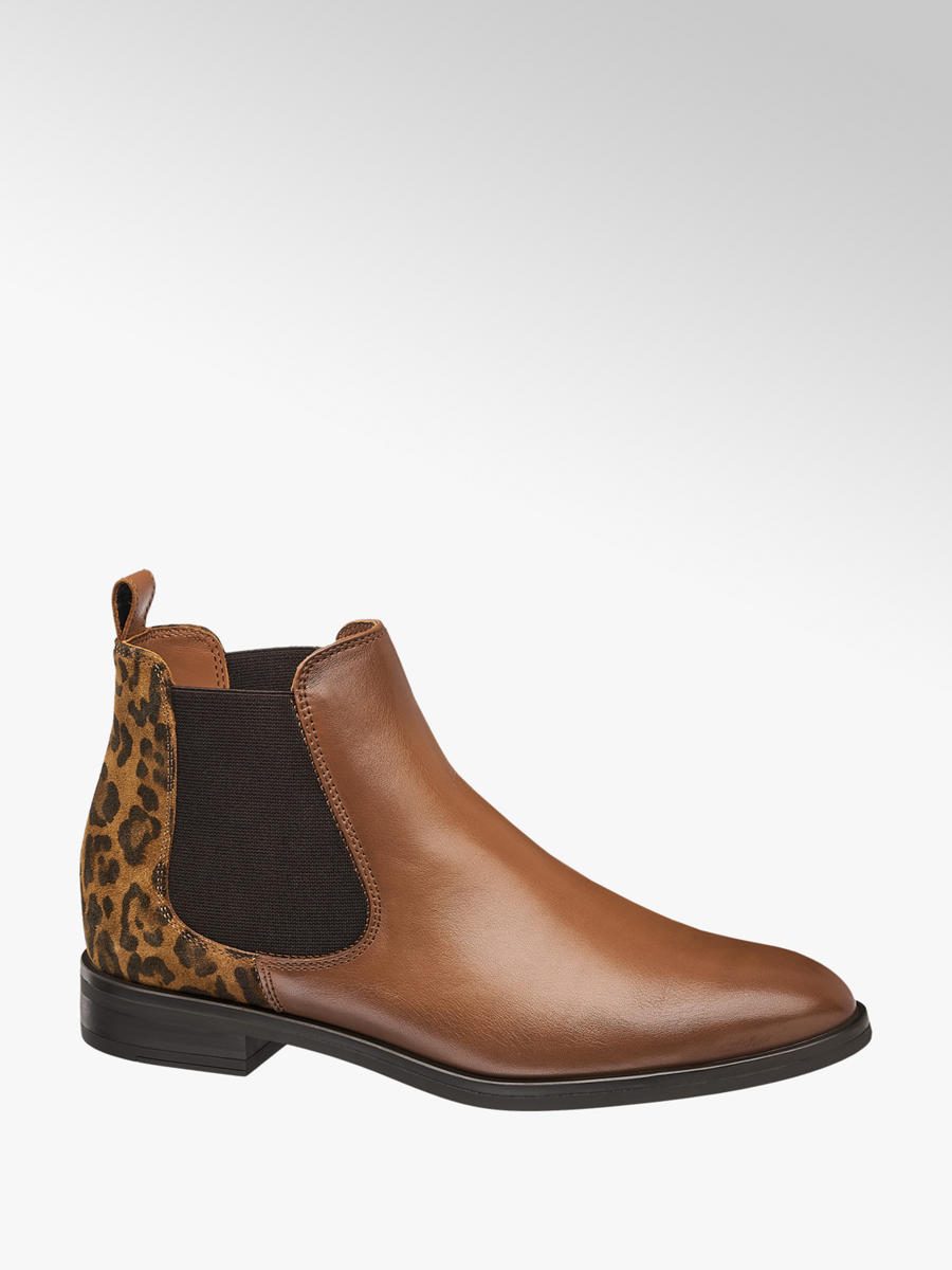 5th Avenue Leder Chelsea Boots in Braun | DEICHMANN AT