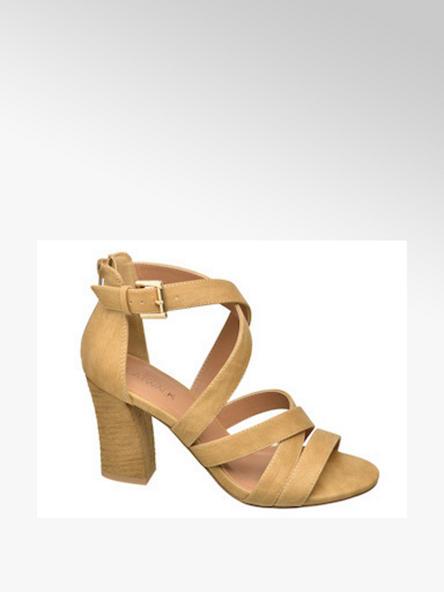 Catwalk Дамски жълти сандалети с ток Catwalk
