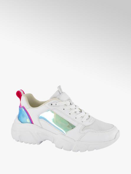 Graceland Witte chunky sneaker metallic