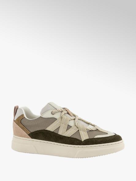 Oxmox Beige leren sneaker