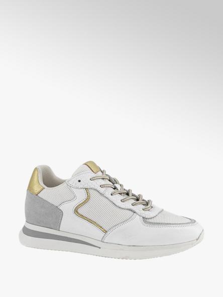 5th Avenue Witte leren sneaker