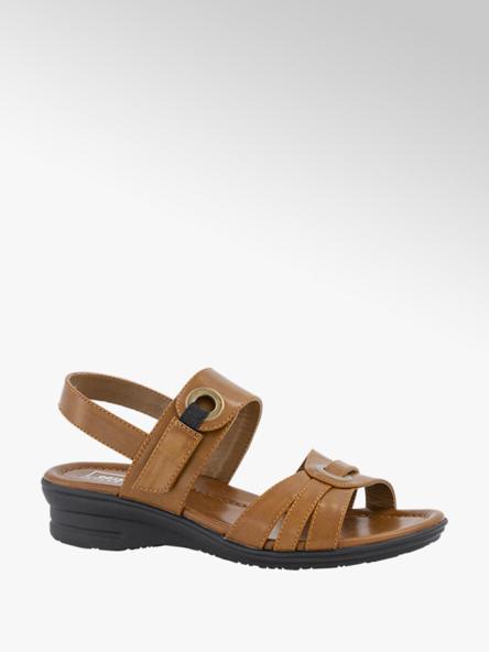 Easy Street Bruine sandaal velcro