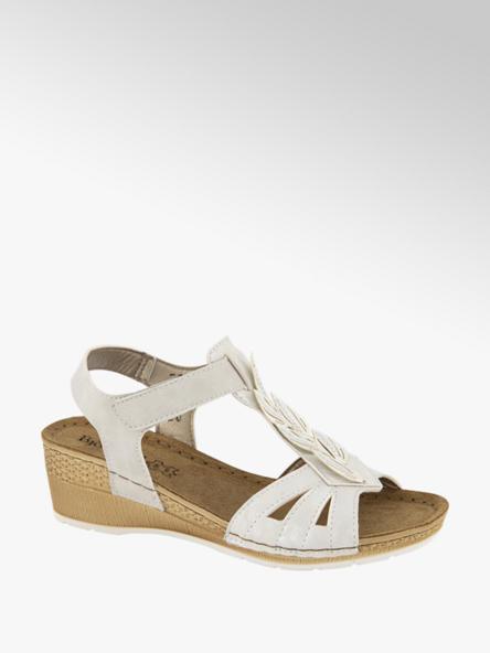 Björndal Wit metallic sandalette leren voetbed