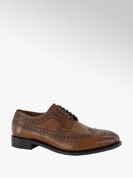 AM shoe Bruine leren geklede veterschoen Goodyear