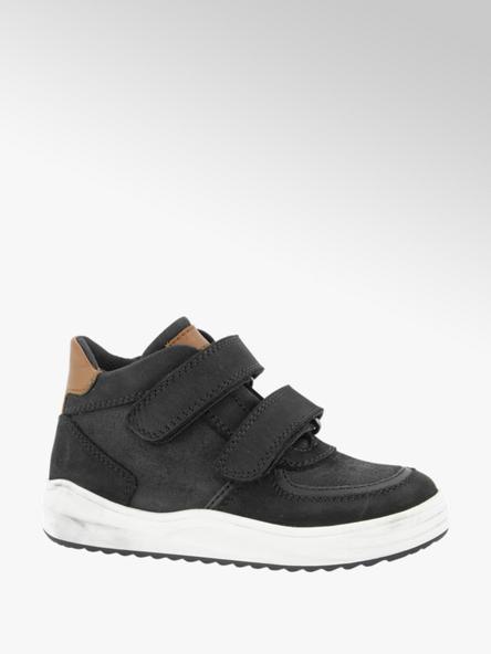 Victory Zwarte leren sneaker