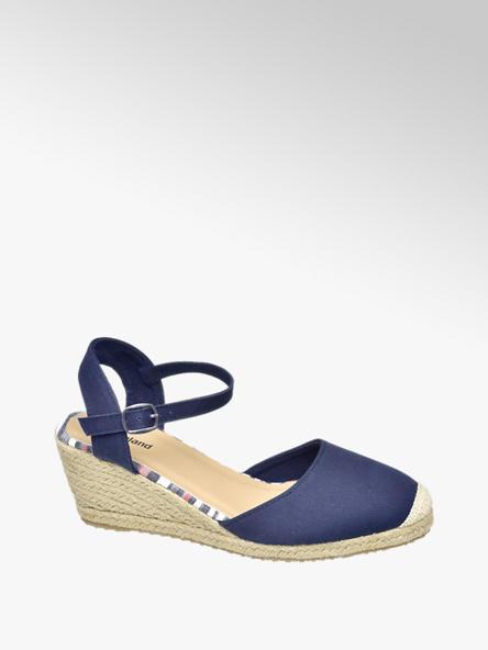 Graceland Дамски сини сандали с платформа Graceland