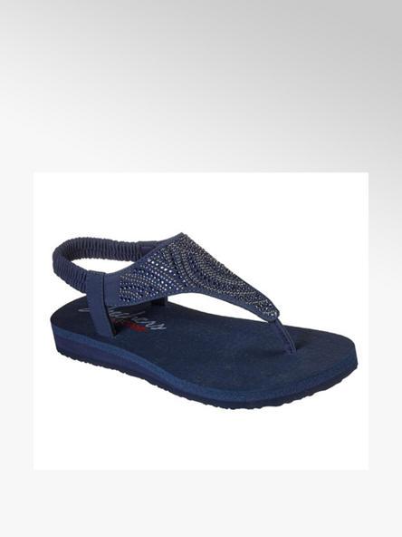 Skechers Дамски сини сандали с ластик Skechers
